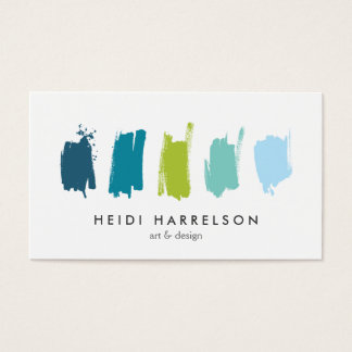 Paint Swatches Blue/Green Business Card