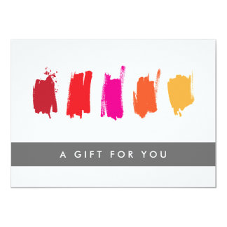"""Paint Swatches Red/Orange Gift Certificate 4.5"""" X 6.25"""" Invitation Card"""
