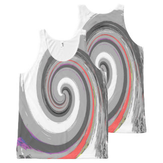 paint swirl All-Over-Print tank top