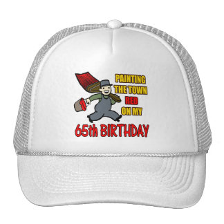 Paint The Town 65th Birthday Gifts Trucker Hat