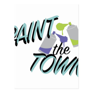Paint The Town Postcard