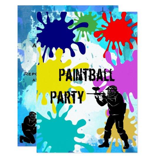 Paintball 11th Birthday Card