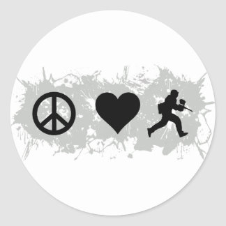 Paintball 1 classic round sticker