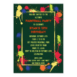 Paintball Birthday Party Invitation