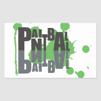 Paintball black on green logo sticker