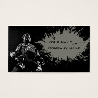 Paintball business card
