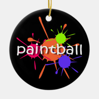 Paintball Ceramic Ornament