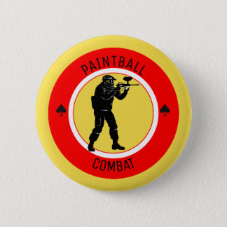 Paintball Combat 2 Inch Round Button