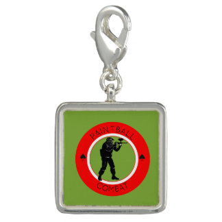 Paintball Combat Photo Charm