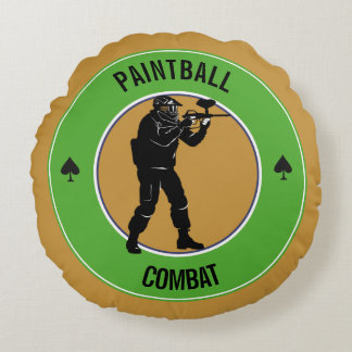 Paintball Combat Round Pillow