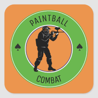Paintball Combat Square Sticker