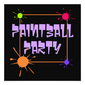 PAINTBALL GET-TOGETHER PARTY INVITATION INVITE