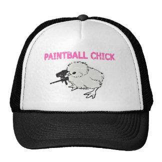Paintball Gun Chick Trucker Hat