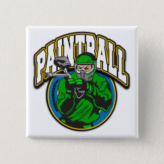 Paintball Logo 2 Inch Square Button