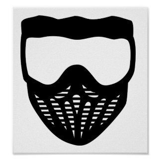 Paintball mask poster