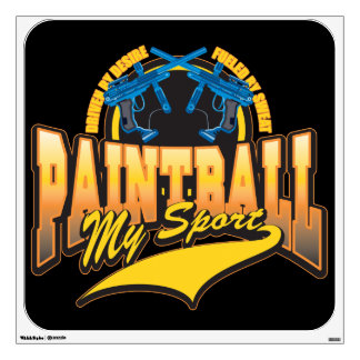 PaintBall My Sport Wall Sticker
