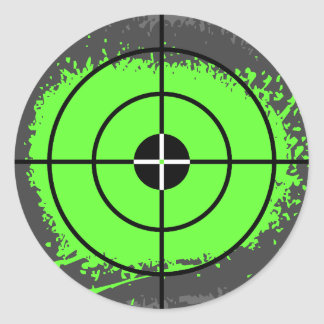 Paintball party stickers | paint splatter target
