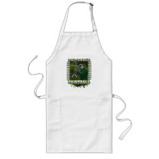 Paintball Player Green Team Long Apron