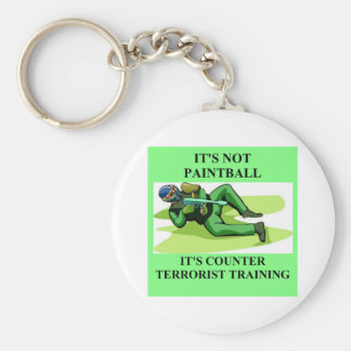 paintball player keychain