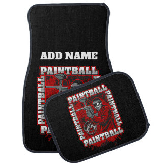 Paintball Player Red Team Colors Car Mat