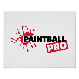 Paintball Pro color splash Poster