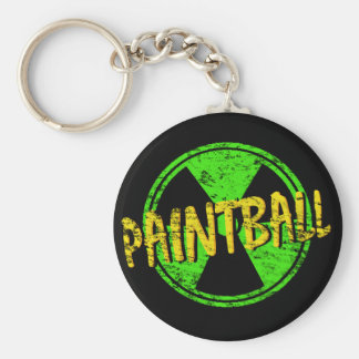 Paintball Radioactive Keychain
