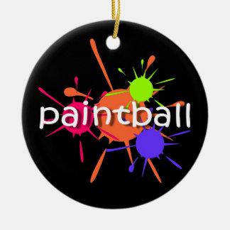 Paintball Round Ceramic Ornament