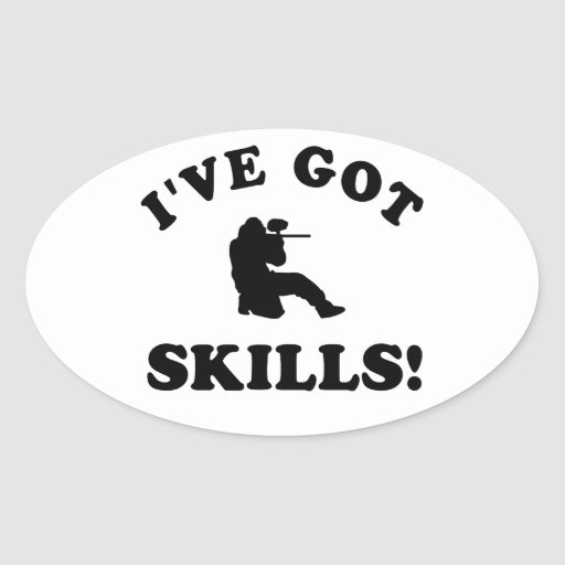 paintball skills Vector Designs Oval Stickers