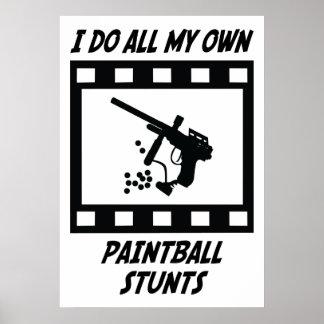Paintball Stunts Poster
