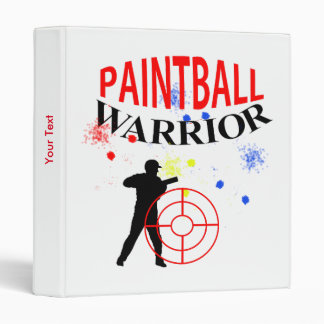 Paintball Warrior Themed Graphic Binders