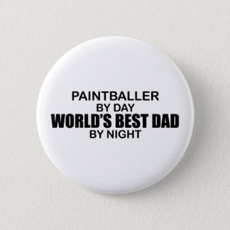 Paintballer - World's Best Dad by Night 2 Inch Round Button