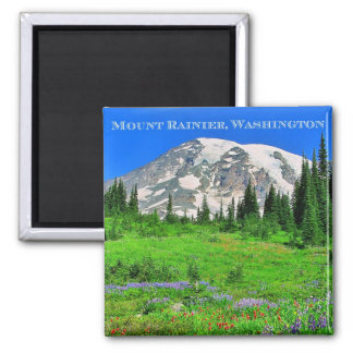 Paintbrush & Lupine Meadows Square Magnet