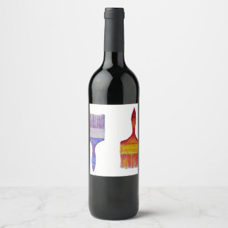 paintbrush wine label
