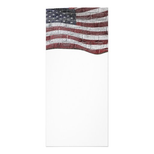Painted American Flag on Brick Wall Texture Rack Card
