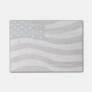 Painted American Flag on Brick Wall Texture Post-it® Notes