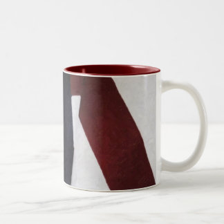 Painted Americana Two-Tone Coffee Mug