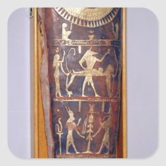 Painted and gilded mummy case of Artemidorus Square Sticker