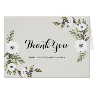 Painted Anemones - thank you note cards