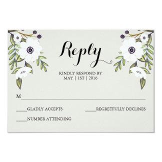 Painted Anemones - Wedding RSVP Card