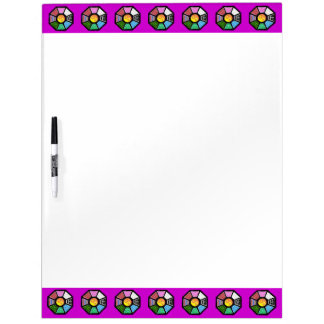 Painted Ba-Gua Tiled Pattern Dry-Erase Whiteboard