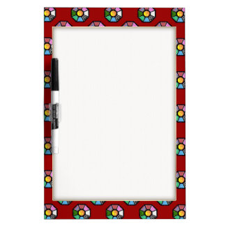 Painted Ba-Gua Tiled Pattern Dry-Erase Whiteboards