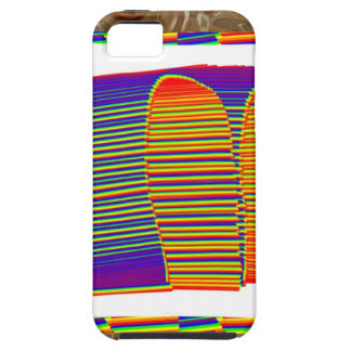 Painted Bamboo Straw Mat HUT iPhone 5 Case