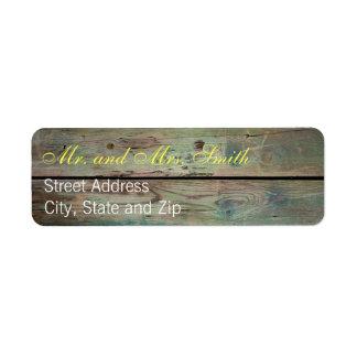 Painted Barnwood Address Labels