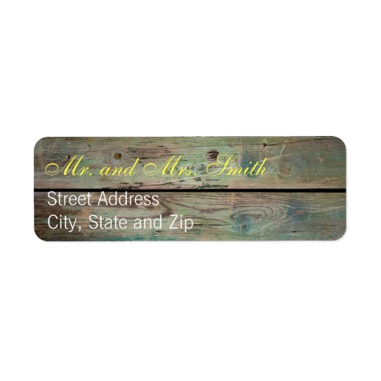 Painted Barnwood Address Labels
