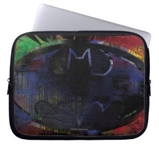 Painted Bat Symbol Laptop Sleeve