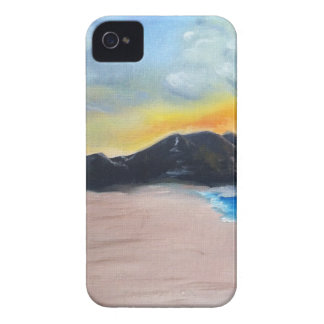 Painted Beach Scene iPhone 4 Cover