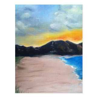 Painted Beach Scene Postcard