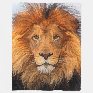 Painted Big Cat Lion King of Beast Fleece Blanket