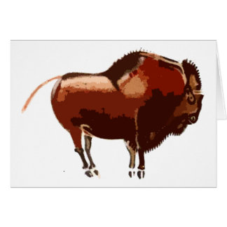 painted bison note card