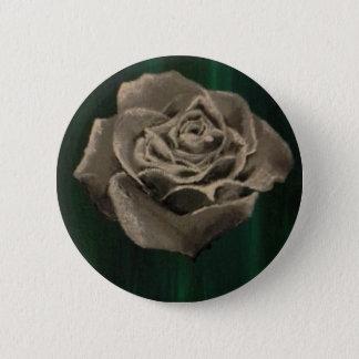Painted Black & White Rose Pin